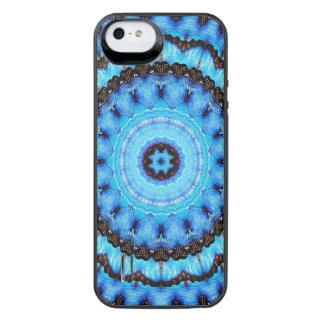 Capa Carregador Para iPhone SE/5/5s Mandala do azul da borboleta