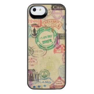 Capa Carregador Para iPhone SE/5/5s O passaporte do vintage carimba a caixa de bateria