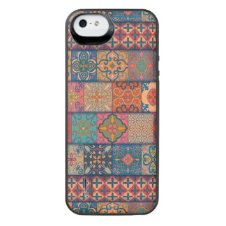 Capa Carregador Para iPhone SE/5/5s Ornamento de talavera do mosaico do vintage