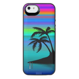 Capa Carregador Para iPhone SE/5/5s Por do sol tropical da ilha