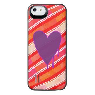 Capa Carregador Para iPhone SE/5/5s Roxo de derretimento do coração