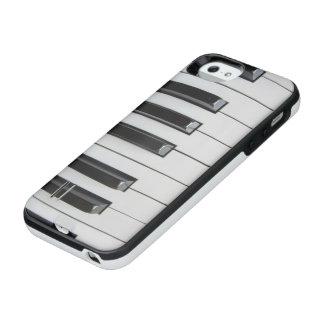 Capa Carregador Para iPhone SE/5/5s Teclado de piano