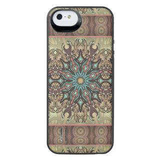 Capa Carregador Para iPhone SE/5/5s Teste padrão floral étnico abstrato colorido da