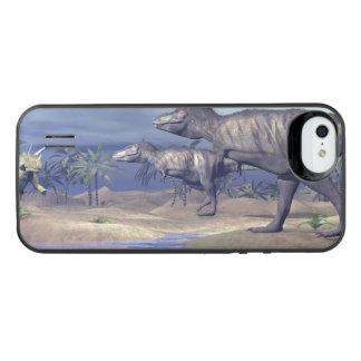 Capa Carregador Para iPhone SE/5/5s Triceratops de ataque do tiranossauro - 3D rendem