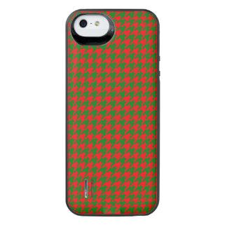 Capa Carregador Para iPhone SE/5/5s Verificação vermelha e verde do Natal clássico de