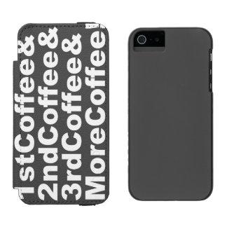 Capa Carteira Incipio Watson™ Para iPhone 5 1stCoffee&2ndCoffee&3rdCoffee&MoreCoffee! (branco)