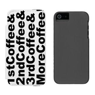 Capa Carteira Incipio Watson™ Para iPhone 5 1stCoffee&2ndCoffee&3rdCoffee&MoreCoffee! (preto)