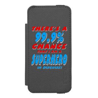 Capa Carteira Incipio Watson™ Para iPhone 5 99,9% Eu sou um SUPER-HERÓI (branco)