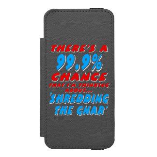 Capa Carteira Incipio Watson™ Para iPhone 5 99,9% SHREDDING O GNAR (branco)