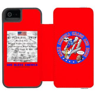CAPA CARTEIRA INCIPIO WATSON™ PARA iPhone 5 A.A. DO M. & B - DEUS ABENÇOE AMÉRICA