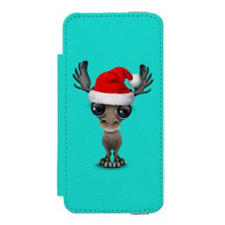 Capa Carteira Incipio Watson™ Para iPhone 5 Alces do bebê que vestem um chapéu do papai noel