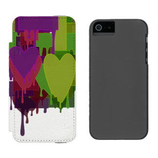 Capa Carteira Incipio Watson™ Para iPhone 5 Blocos da cor que derretem corações