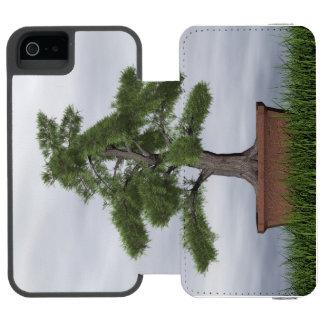 Capa Carteira Incipio Watson™ Para iPhone 5 Bonsais da árvore do zimbro do templo - 3D rendem