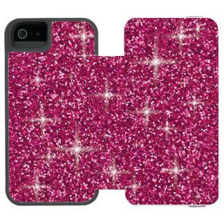 Capa Carteira Incipio Watson™ Para iPhone 5 Brilho iridescente cor-de-rosa