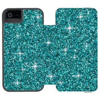Capa Carteira Incipio Watson™ Para iPhone 5 Brilho iridescente da cerceta