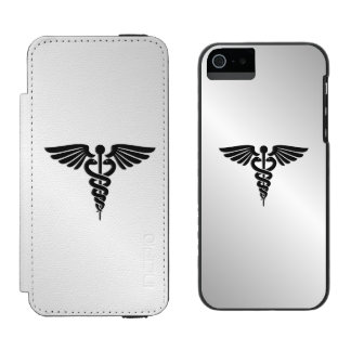 Capa Carteira Incipio Watson™ Para iPhone 5 Caduceus médico de prata
