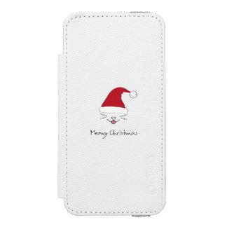 Capa Carteira Incipio Watson™ Para iPhone 5 Caixa bonito da carteira dos feriados do gato do