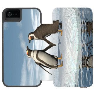 Capa Carteira Incipio Watson™ Para iPhone 5 Casal dos pinguins