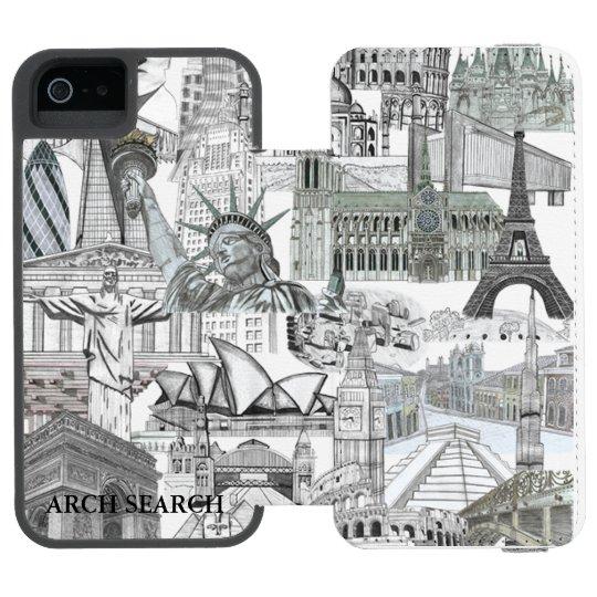 Capa Carteira Incipio Watson™ Para iPhone 5 Case iPhone 5/5s Mural Arch Search