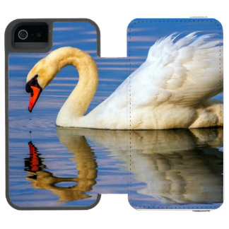 Capa Carteira Incipio Watson™ Para iPhone 5 Cisne muda, olor do cygnus