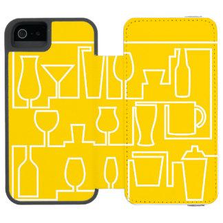 Capa Carteira Incipio Watson™ Para iPhone 5 Cocktail amarelo