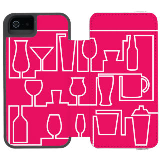 Capa Carteira Incipio Watson™ Para iPhone 5 Cocktail cor-de-rosa