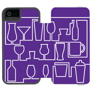 Capa Carteira Incipio Watson™ Para iPhone 5 Cocktail roxo