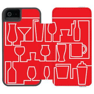 Capa Carteira Incipio Watson™ Para iPhone 5 Cocktail vermelho