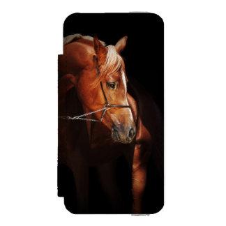 Capa Carteira Incipio Watson™ Para iPhone 5 coleção do cavalo. vermelho árabe