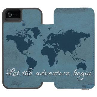 Capa Carteira Incipio Watson™ Para iPhone 5 Deixe a aventura começar