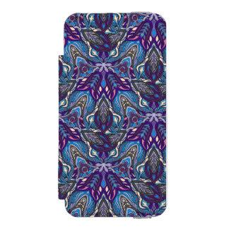 Capa Carteira Incipio Watson™ Para iPhone 5 Design floral do teste padrão do abstrato da