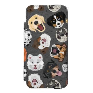 Capa Carteira Incipio Watson™ Para iPhone 5 DogPattern01_02_B_Quadrat.ai