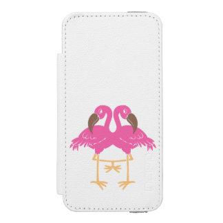 Capa Carteira Incipio Watson™ Para iPhone 5 Dois flamingos de dança