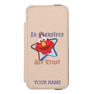 Capa Carteira Incipio Watson™ Para iPhone 5 Elmo - nos monstro nós confiamos que   adicionam