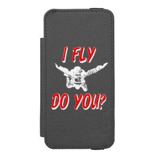 Capa Carteira Incipio Watson™ Para iPhone 5 Eu vôo, faz você? (branco)