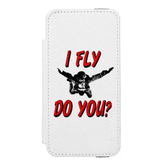 Capa Carteira Incipio Watson™ Para iPhone 5 Eu vôo, faz você? (preto)