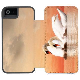Capa Carteira Incipio Watson™ Para iPhone 5 Família da cisne