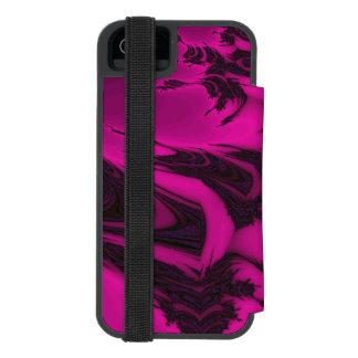 Capa Carteira Incipio Watson™ Para iPhone 5 Fractal cor-de-rosa e preto