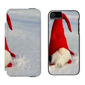 Capa Carteira Incipio Watson™ Para iPhone 5 Gnomo escandinavo do Natal