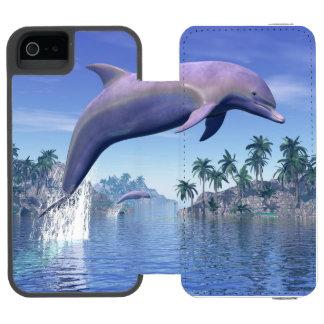 Capa Carteira Incipio Watson™ Para iPhone 5 Golfinho nos trópicos - 3D rendem