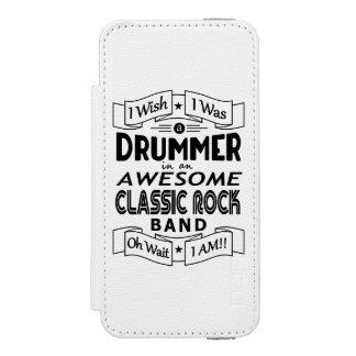 Capa Carteira Incipio Watson™ Para iPhone 5 Grupo de rock clássico impressionante do BATERISTA