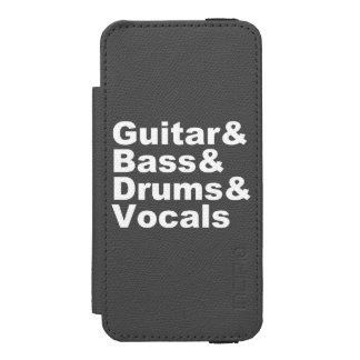 Capa Carteira Incipio Watson™ Para iPhone 5 Guitar&Bass&Drums&Vocals (branco)