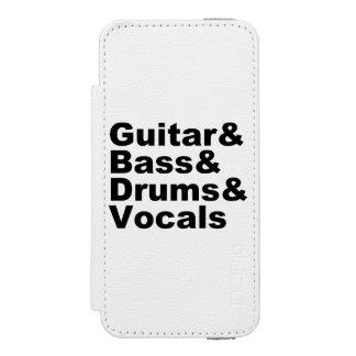Capa Carteira Incipio Watson™ Para iPhone 5 Guitar&Bass&Drums&Vocals (preto)