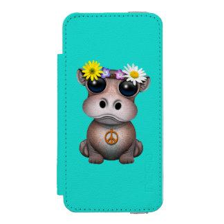 Capa Carteira Incipio Watson™ Para iPhone 5 Hippie bonito do hipopótamo do bebê