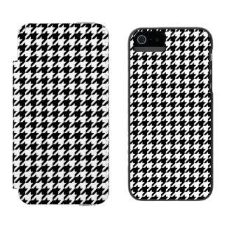 Capa Carteira Incipio Watson™ Para iPhone 5 Houndstooth preto e branco