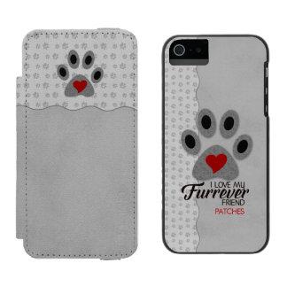 Capa Carteira Incipio Watson™ Para iPhone 5 Impressão Monogrammed da pata do amante felino