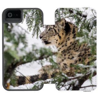 Capa Carteira Incipio Watson™ Para iPhone 5 Leopardo de neve sob Bush nevado