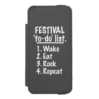 Capa Carteira Incipio Watson™ Para iPhone 5 Lista do tumulto do ` do festival' (branca)