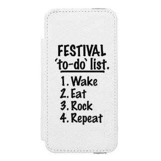 Capa Carteira Incipio Watson™ Para iPhone 5 Lista do tumulto do ` do festival' (preto)