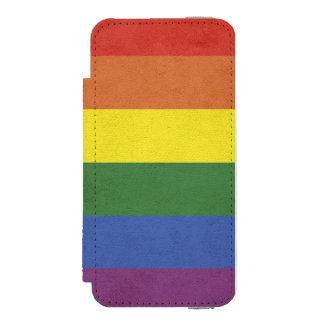 Capa Carteira Incipio Watson™ Para iPhone 5 Listras do arco-íris